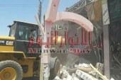بالصور حمله إزالة قاعة أفراح بسمسطا جنوب غرب بنى سويف