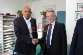 السفير الألمانى فى زيارة لمركز الدكتور محمد غنيم بجامعة المنصورة