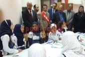 بالصورالسكرتير العام ووكيل تعليم بنى سويف يتفقدان المنتدى التعليمي