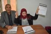 """أول كفيفة توقع علي استمارة """"عشان تبنيها """"عبر طريقة برايل لتأييد""""السيسي"""""""