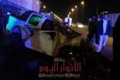 إنقلاب سيارة نقل محملة بالطوب في قليوب