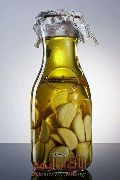 الثوم المتروك في زيت الزيتون أقوى مضاد حيوي