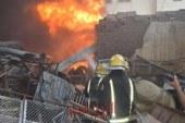السيطرة على حريق نشب بحظيرة طيور أعلى سطح منزل بالفيوم
