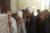 لجنة مدرسة بنات أبشواي بمركز ابشواي بالفيوم وأقبال غير عادي منذ الساعات الاولي