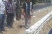 رئيس مركز المنيا يتابع أعمال تجميل المدخل الشمالي للمدينة