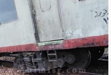 خروج أحد قطارات بورسعيد عن مساره اليوم