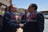 بالصورمحافظ بني سويف يستقبل وزير الإسكان 