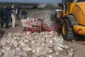 ازالة 80 حالة تعدى على الاراضى الزراعية بمدينة طوخ