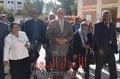 محافظ البحر الأحمر يتفقد مدرسة شدوان بعد التوسعات التي تمت بها