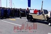 محافظ الاسكندرية يشارك في تشييع جثمان شهيد الواجب النقيب بحري مصطفى محمود الجزار في جنازة عسكرية مهيبة