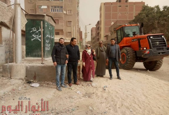 بالصور.. مستقبل وطن بالجيزة يقود حملة مكبرة للنظافة وتمهيد الطرق بمشاركة أعضاؤه
