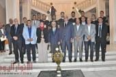 وزير التربية والتعليم يكرم الطلاب الحاصلين على بطولة العالم لكرة اليد للناشئين